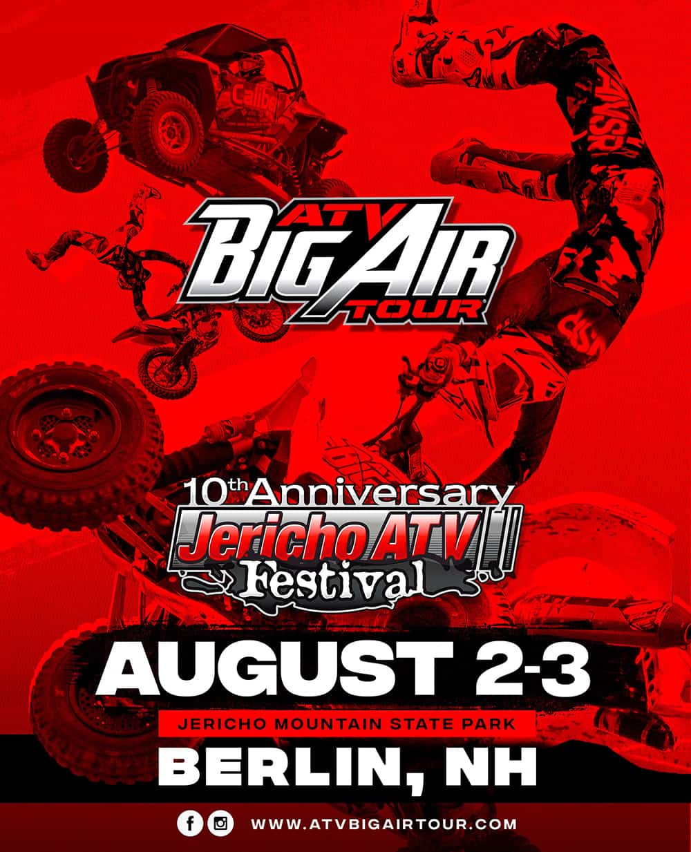 The ATV Big Air Tour comes to the Jericho ATV Festival in Berlin, NH!