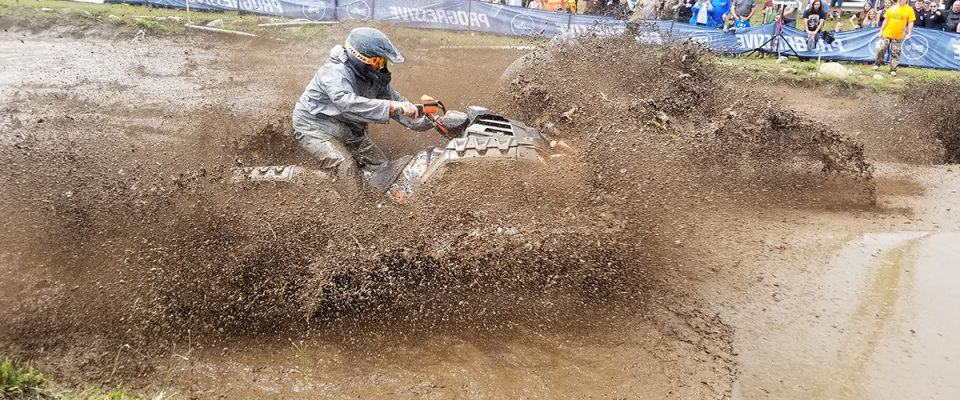 Splashing in the mudpit at the Jericho ATV Festival