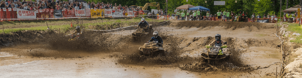 ATVs in the mudpit at the Jericho ATV Festival in Berlin, NH
