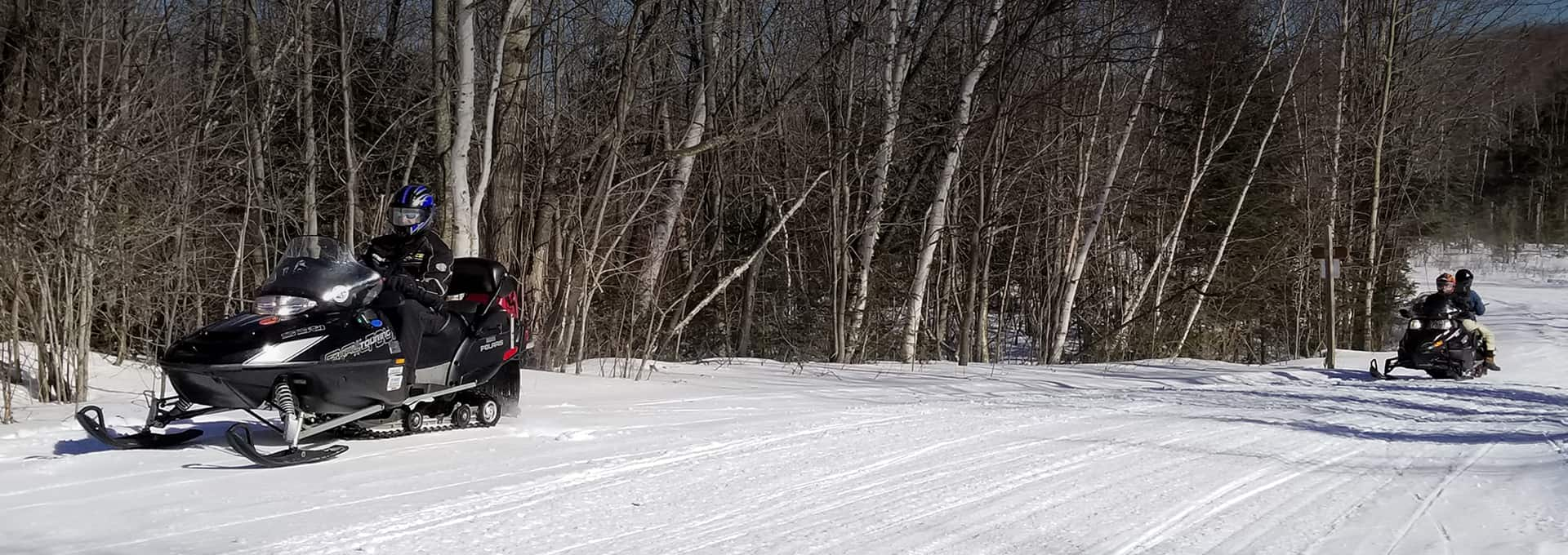 Snowmobiling trails in Northern NH